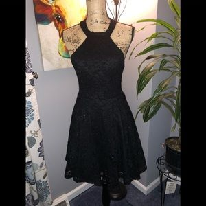 Black Halter Dress By B. Darlin